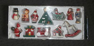 Vintage Wooden Christmas Decorations