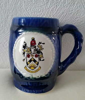 GREAT YARMOUTH POTTERY TANKARD/MUG,Lowestoft 1978-20 years of twinning - 1998
