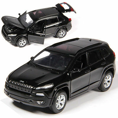 Jeep Cherokee 1:32 diecast car model Toy black Acousto-optic gift Free shipping