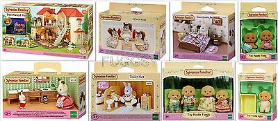 Sylvanian Families Beechwood Hall Doll House Bundle 8 Items 4531 5259 4464 5019