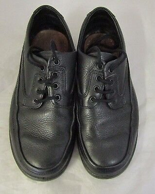 Padders Size 7 Black Derby Plain Toe Leather Laced Shoes