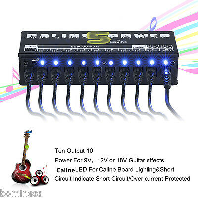 CP-05 Professional 10 Isolated Output Power Supply For Guitar Effect Pedals US