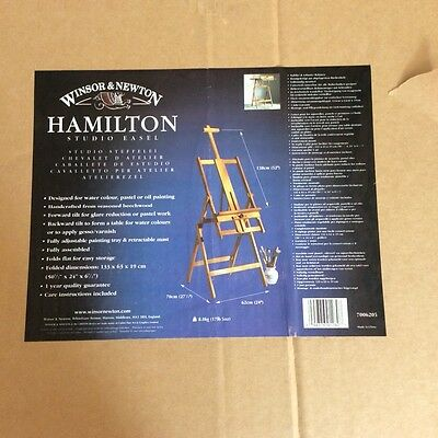 Winsor and Newton Hamilton studio art  artist wooden easel