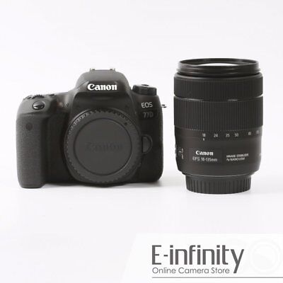 NEW Canon EOS 77D DSLR Camera with EF-S 18-135mm f/3.5-5.6 IS Nano USM Lens