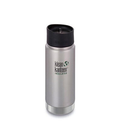Klean Kanteen 16oz Vacuum Insulated Cafe Cap Coffee Thermos Stainless 473ml