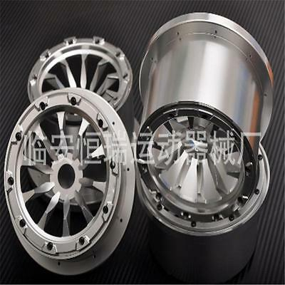 Baja 5B CNC metal wheel alloy rim with new CNC seal chocks nut only silver color