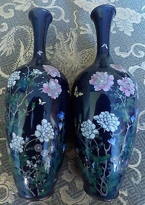Antique Fine Quality Japanese Cloisonne Vases