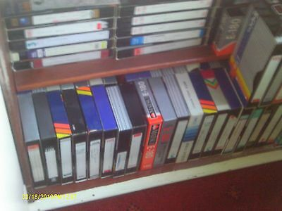 assorted  vhs tapes used