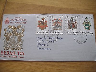 Bermuda First Day Cover 1983 Bermuda Coats of Arms