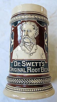 Dr. Swett's Original Root Beer Stein/Mug #6113/16 Portrait Old Vtg Antique