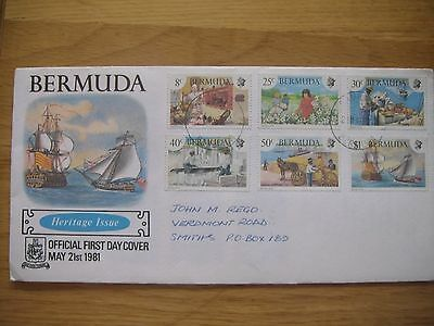 Bermuda First Day Cover 1981 - Heritage Issue