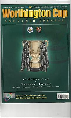 Leicester City v Tranmere League Cup Final 2000 Souvenir Special Programme