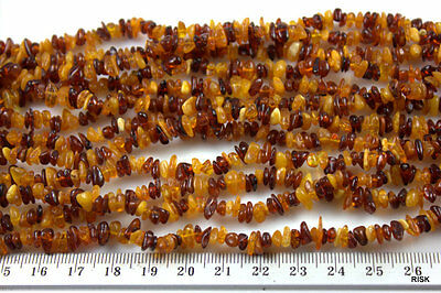 OR007 - Natural Quality Amber Gemstone Chips - 4-7x3-4x3-4mm x 2g x 50 pce