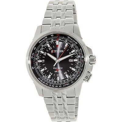 Citizen Men's Eco-Drive BJ7070-57E Silver Stainless-Steel Eco-Drive Dress Watch