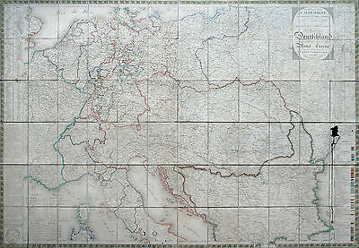 Nordmann: COPPERPLATE MAP Germany Austria After Viennese Congress 1816