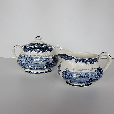 Royal Worcester Avon scenes Sugar pot and Jug