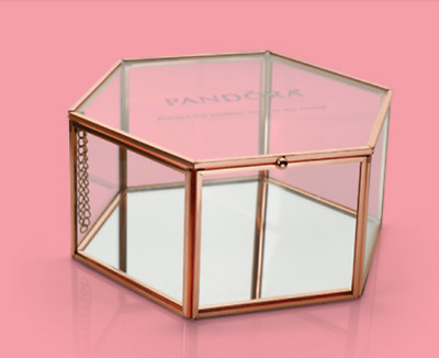 Pandora New Glass / Mirror  Jewelry Gift Box Mother's Day  Pandora Bag Included.