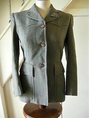 True vintage Beautiful Tailored forties Tweed jacket, Rare. 40's