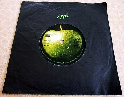 The Beatles, Something/come Together 1969 Uk Apple Label 45 Single In Apple Bag.
