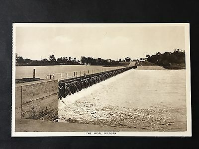 Vintage Photo Postcard THE WEIR, MILDURA, VIC