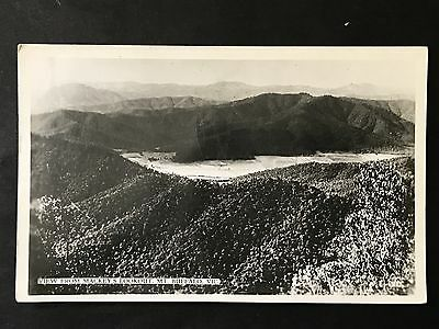 Vintage Real Photo Postcard VIEW FROM MACKEY'S LOOKOUT MT BUFFALO VIC Valentines