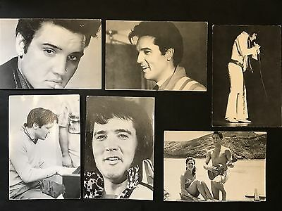 Picture Postcard of ELVIS PRESLEY x 6 by Bloomsbury Books B&W Photo Card