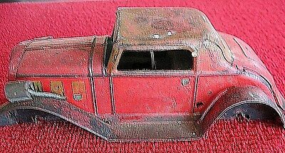 Marx 1930 's Wind Up Tin Litho Deluxe Coupe (Body Only) Light Up Headlamps