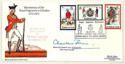 CC4 1972 Bicentenary Royal Engineers Cover Gibralter {samwells-covers}
