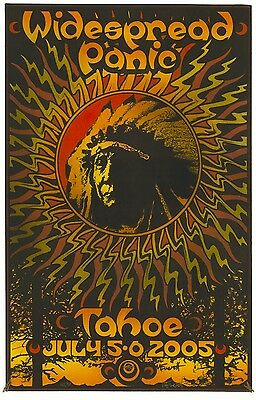 MINT Widespread Panic Lake Tahoe 2005 Everett SIGNED Poster 43/50