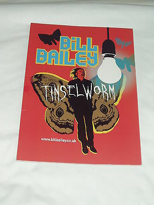Bill Bailey Tinselworm Stage Show Souvenir Programme