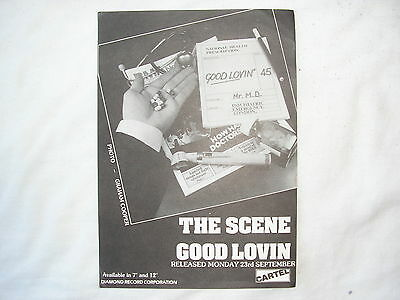 "The Scene Good Lovin flyer for 7"" & 12"" release. Mod revival"