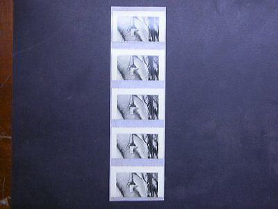 "1993 Counter Printed TRIAL Stamp UN-ISSUED Strip of 5 ""Inverted Candle"" L/Ed MNH"