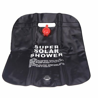10L Camping Hiking Solar Heated Camp Shower Bag Outdoor Shower Water Bag M4N1