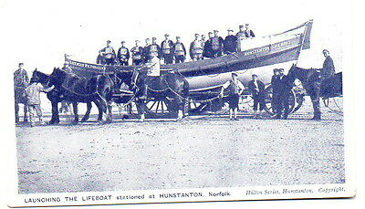 Hunstanton Lifeboat Licensed Victuallers & Crew  Postcard posted 1909