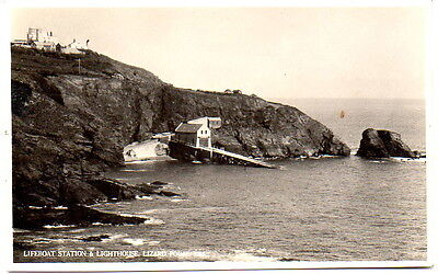 Lifeboat station & lighthouse Lizard Point Postcard