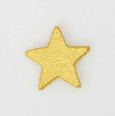 12 Edible Gold Lustre Stars Cake Decorations