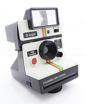 Polaroid 1000 OneStep Rainbow Instant Film Camera with Q-Light Flash Free UK P&P