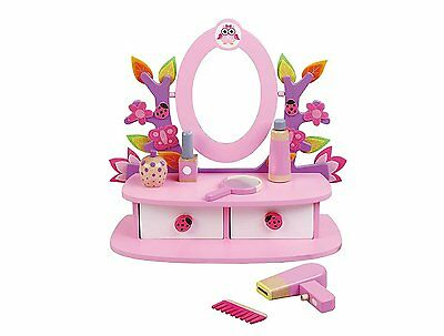 Childrens, Kids, Wooden Dressing Table, Vanity Mirror Set with Accesories by ®