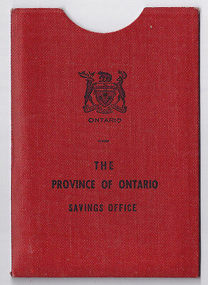 Province of Ontario Savings Office bank book holder - 1960s