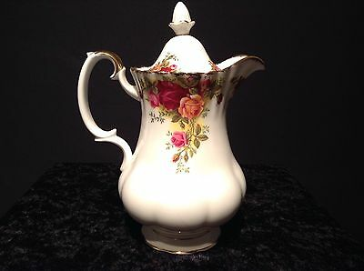 Royal Albert Old Country Roses Rare Hot Water Jug 1St Quality