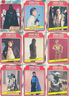Star Wars Empire Strikes Back Series 1 - Complete Card Set (1-132) 1980 Topps