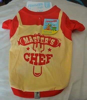 "Dogs Outfit Master Chef Large - fit 14"" Dog T Shirt/Vest"