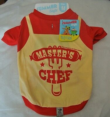 "Dogs Outfit Master Chef Medium - fit 12"" Dog T Shirt/Vest"