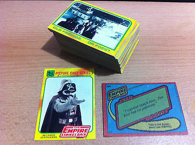 Star Wars Empire Strikes Back Series 3 - Complete Card Set (265-352) 1980 Topps