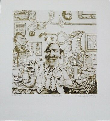 Stunning Limited Edition Caricature Etching Print by Charles Bragg!