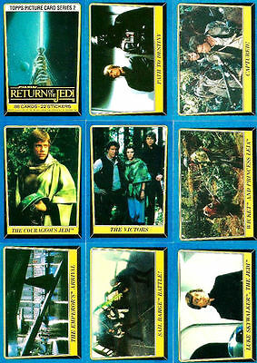 Star Wars Return of the Jedi S2 - Complete Card Set (133-220) 1983 @ Near Mint