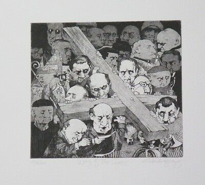 Striking Limited Edition Religious Themed Etching Print by Charles Bragg!