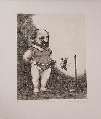 Wonderful Limited Edition Caricature Etching Print by Charles Bragg!