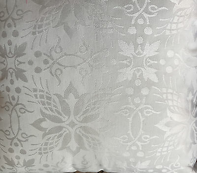 1 Metre Church Liturgical Vestment Brocade Fabric White Repeat Pattern 150 Wide