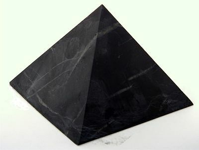 Shungite UNpolished pyramid 30x30 mm Original Healing Stone from Karelia Russia